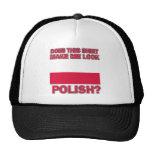 Polish designs mesh hats