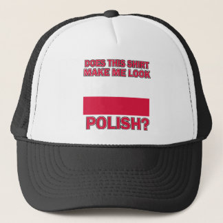 Polish designs trucker hat