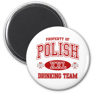 Polish Drinking Team 6 Cm Round Magnet