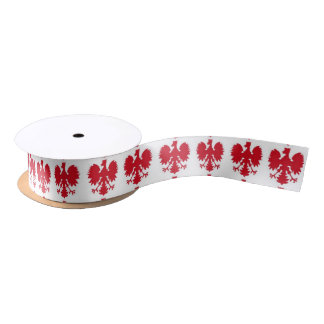 POLISH EAGLE 2 SATIN RIBBON