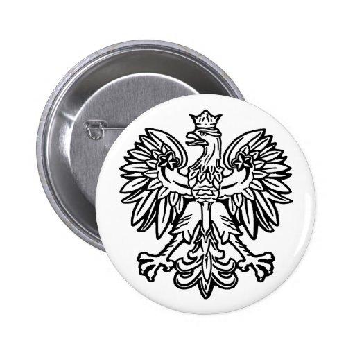 Polish Eagle Pinback Buttons
