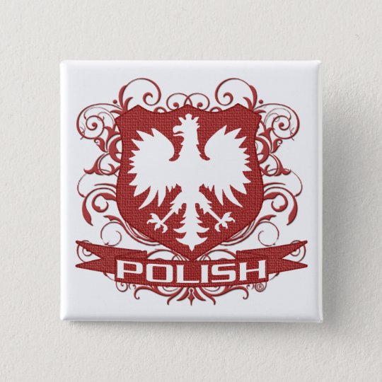 Polish Eagle Crest button