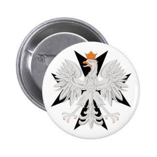 Polish Eagle Maltese Cross 6 Cm Round Badge