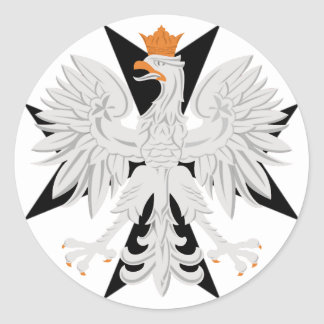 Polish Eagle Maltese Cross Classic Round Sticker