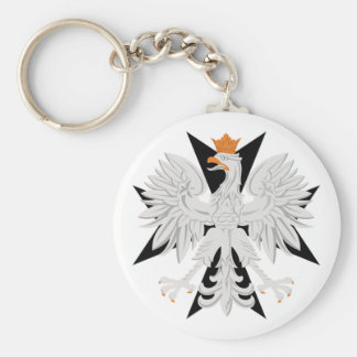 Polish Eagle Maltese Cross Key Ring