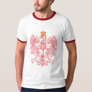 Polish Eagle Outlined In Red T-Shirt