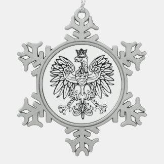 Polish Eagle Pewter Ornament
