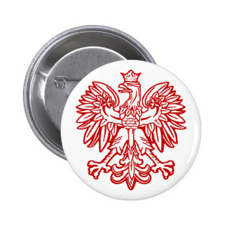 Polish Eagle Pinback Buttons