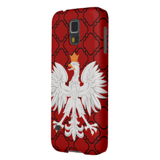 Polish Eagle Red Barbed Quatrefoil Pattern Galaxy S5 Cover