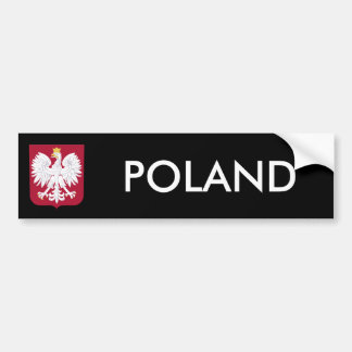 Polish Eagle Red Shield Bumper Sticker