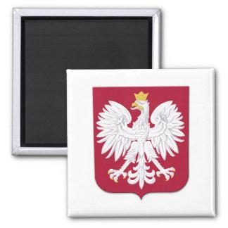 Polish Eagle Red Shield Square Magnet