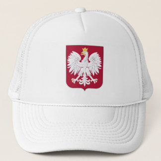 Polish Eagle Red Shield Trucker Hat