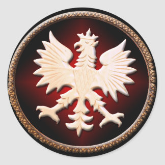 Polish Eagle Vintage Classic Round Sticker