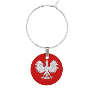 Polish Eagle Wine Charm