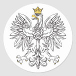 Polish Eagle With Gold Crown Classic Round Sticker