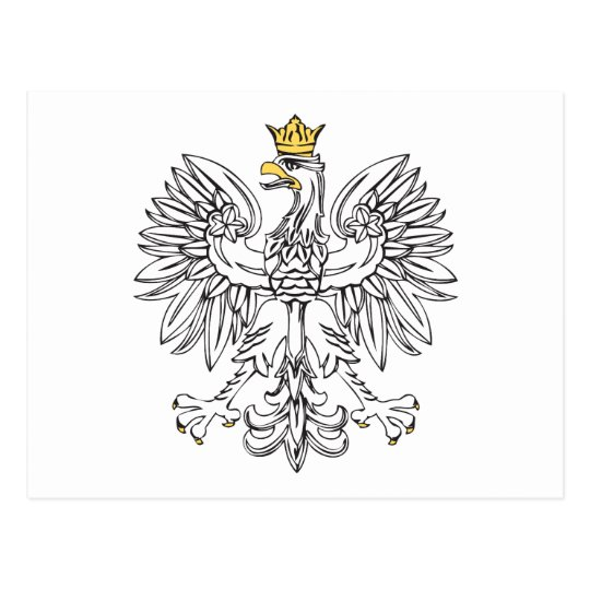 Polish Eagle With Gold Crown Postcard