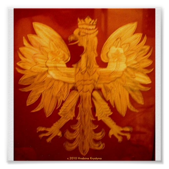 POLISH EAGLE WOOD PARQUET POSTER