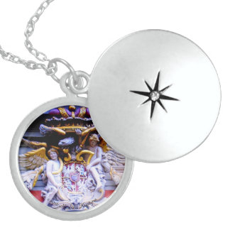 POLISH FAMILY CREST STERLING SILVER NECKLACE