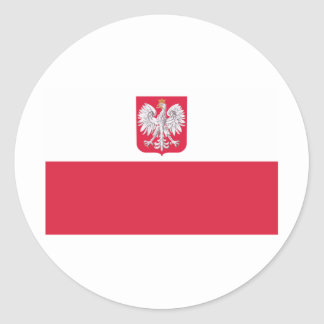 Polish Flag Classic Round Sticker