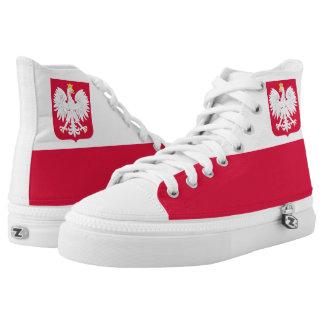 Polish Flag High Tops
