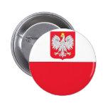 Polish Flag Pinback Button