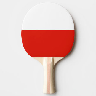 Polish flag ping pong paddle for table tennis