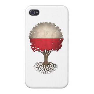 Polish Flag Tree of Life Customizable Covers For iPhone 4