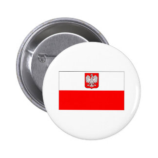Polish Flag With Eagle Pinback Buttons