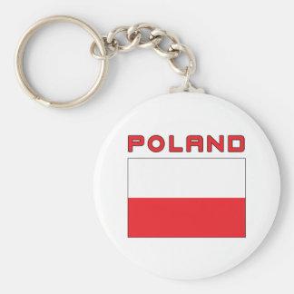 Polish Flag With Poland Key Ring
