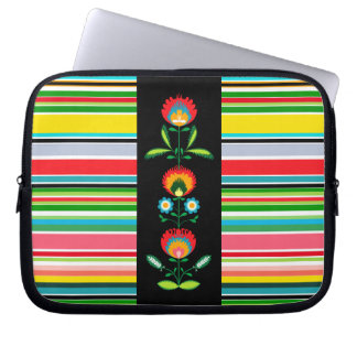 Polish Floral Embroidery, Laptop Skin Computer Sleeves