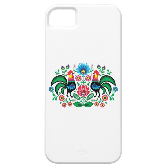 Polish floral embroidery, traditional folk pattern iPhone 5