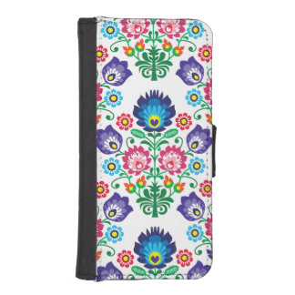 Polish floral embroidery, traditional folk pattern iPhone SE/5/5s wallet case