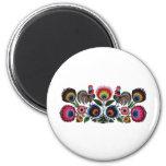 Polish Folk 6 Cm Round Magnet