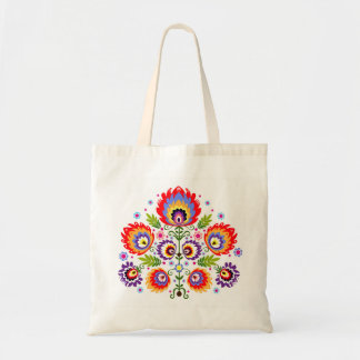 polish folk tote bag
