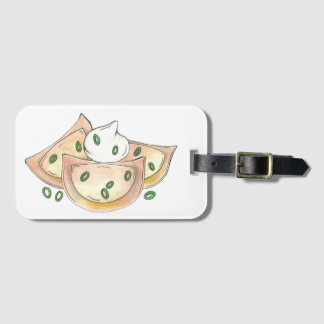 Polish Food Potato Dumplings Pierogies Sour Cream Luggage Tag