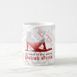 Polish Girl Silhouette Flag Coffee Mug