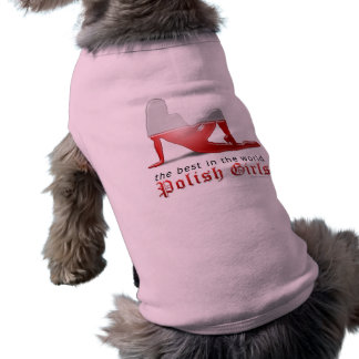 Polish Girl Silhouette Flag Sleeveless Dog Shirt