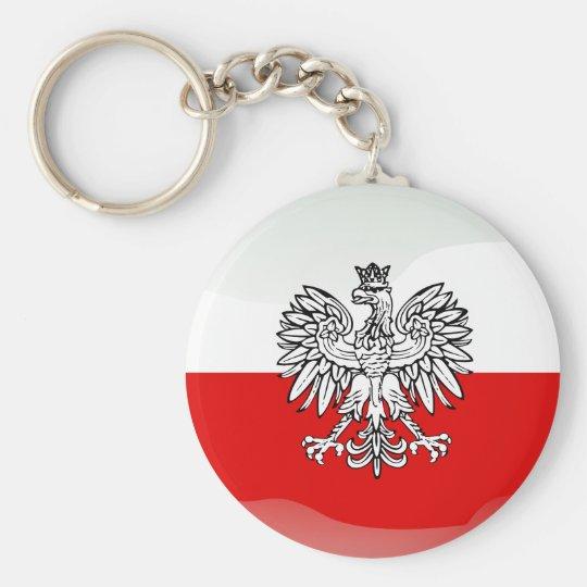 Polish glossy flag key ring