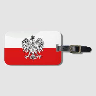 Polish glossy flag luggage tag