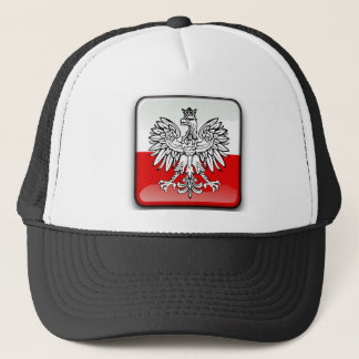 Polish glossy flag trucker hat