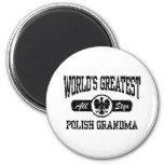 Polish Grandma 6 Cm Round Magnet