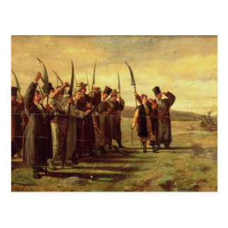Polish Insurrectionists of the 1863 Rebellion oil Post Card
