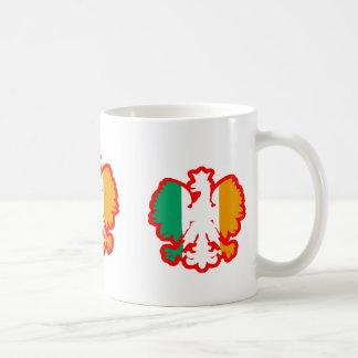 POLISH/IRISH FLAG BASIC WHITE MUG
