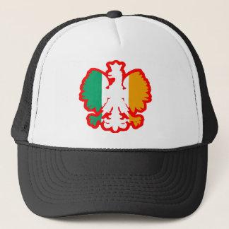 POLISH/IRISH FLAG TRUCKER HAT