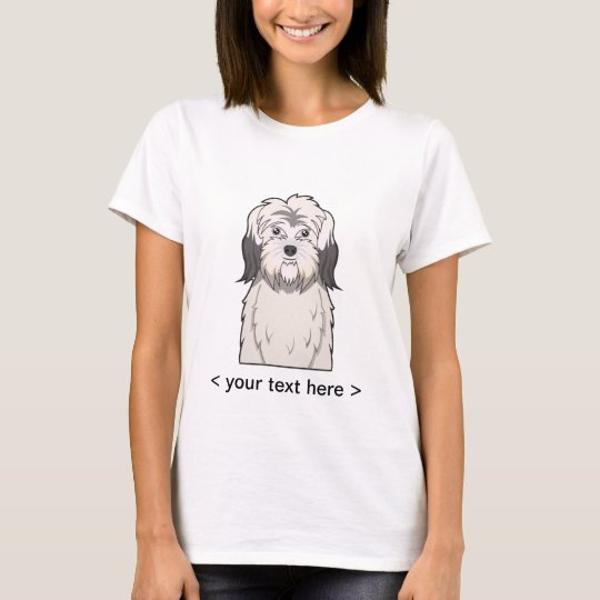 Polish Lowland Sheepdog Cartoon Personalised T-Shirt
