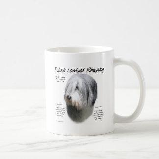 Polish Lowland Sheepdog History Design Coffee Mugs