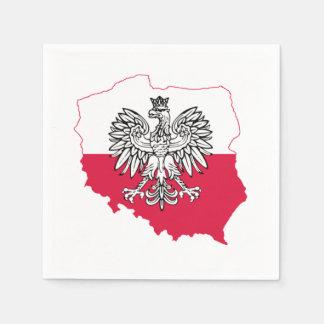 Polish Map Flag Bar Napkins Paper Napkins