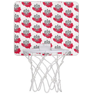 Polish Map Flag Basketball Hoop