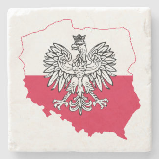 Polish Map Flag Coasters