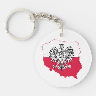 Polish Map Flag Keychain